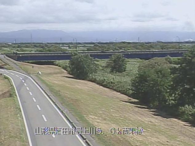 最上川両羽橋ライブカメラは、山形県酒田市落野目の両羽橋に設置された最上川が見えるライブカメラです。