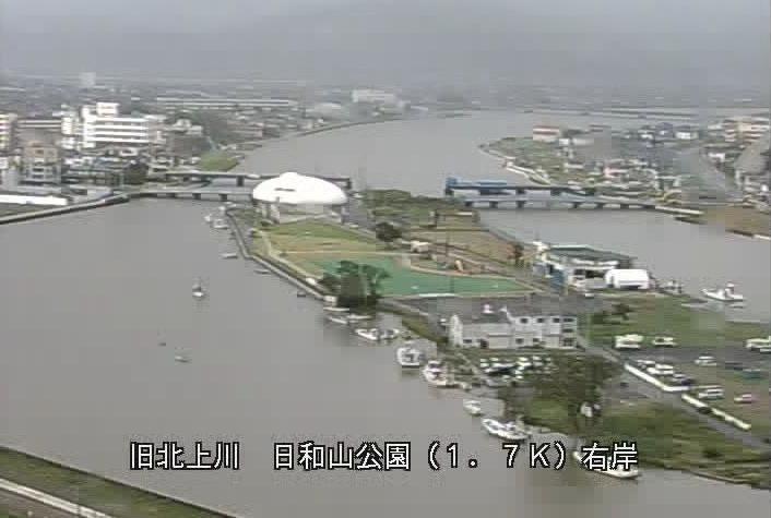 旧北上川日和山公園ライブカメラは、宮城県石巻市日和が丘の日和山公園に設置された旧北上川が見えるライブカメラです。