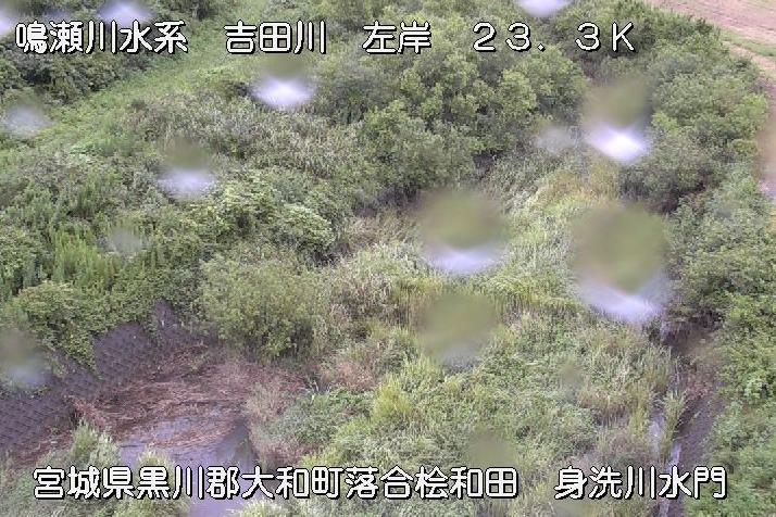 吉田川落合ライブカメラは、宮城県大和町落合の落合(身洗川水門)に設置された吉田川が見えるライブカメラです。