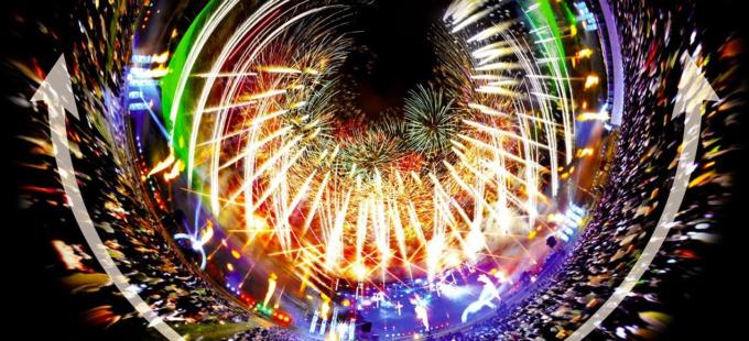 勝毎花火大会360°VR2018ライブカメラ(北海道帯広市)
