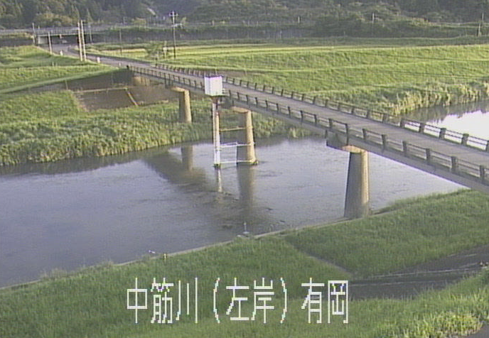 中筋川有岡ライブカメラは、高知県四万十市の有岡に設置された中筋川が見えるライブカメラです。