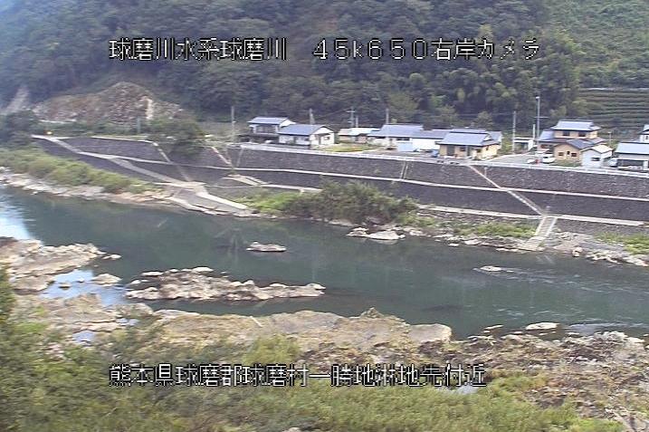 球磨川淋ライブカメラは、熊本県球磨村一勝地の淋に設置された球磨川が見えるライブカメラです。