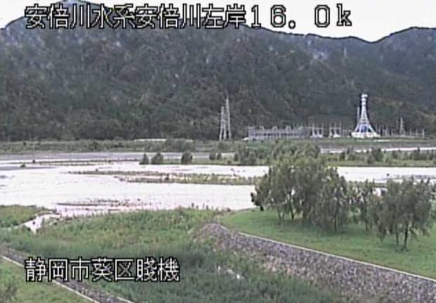 安倍川賤機ライブカメラは、静岡県静岡市葵区の賤機に設置された安倍川が見えるライブカメラです。