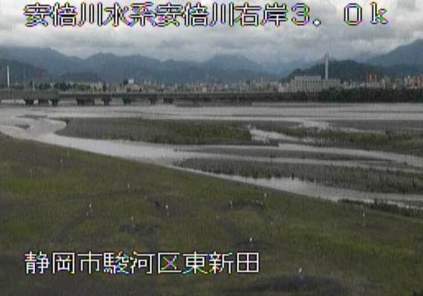 安倍川東新田ライブカメラは、静岡県静岡市駿河区の東新田に設置された安倍川が見えるライブカメラです。