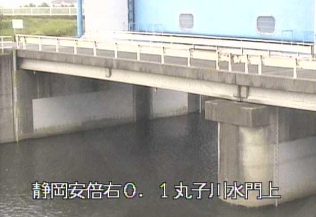 丸子川水門上流ライブカメラは、静岡県静岡市駿河区の丸子川水門上流に設置された丸子川が見えるライブカメラです。