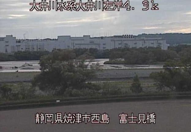 大井川富士見橋ライブカメラは、静岡県焼津市西島の富士見橋に設置された大井川が見えるライブカメラです。