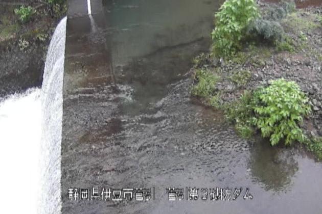 菅引川菅引第3砂防ダムライブカメラは、静岡県伊豆市菅引の菅引第3砂防ダムに設置された菅引川が見えるライブカメラです。