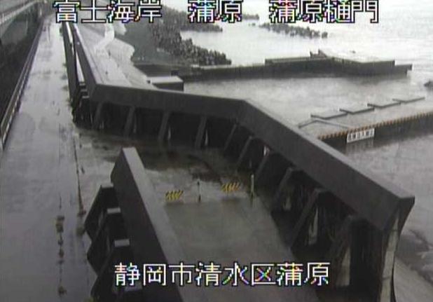 富士海岸蒲原ライブカメラは、静岡県静岡市清水区の蒲原に設置された富士海岸・駿河湾が見えるライブカメラです。