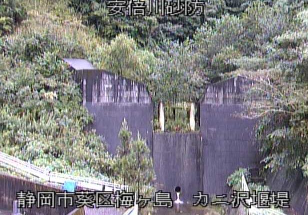 安倍川砂防カニ沢堰堤ライブカメラは、静岡県静岡市葵区のカニ沢堰堤に設置された安倍川砂防が見えるライブカメラです。