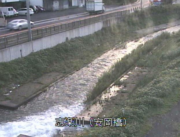 志楽川安岡橋ライブカメラは、京都府舞鶴市田中町の安岡橋に設置された志楽川が見えるライブカメラです。