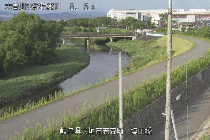 杭瀬川塩田橋ライブカメラは、岐阜県大垣市南若森町の塩田橋に設置された杭瀬川が見えるライブカメラです。
