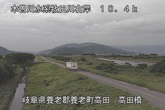 牧田川高田橋ライブカメラは、岐阜県養老町高田の高田橋に設置された牧田川が見えるライブカメラです。