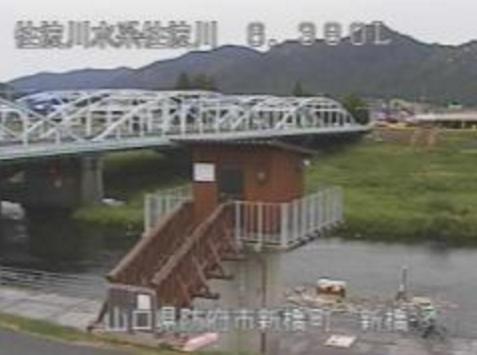 佐波川新橋ライブカメラは、山口県防府市新橋町の新橋に設置された佐波川が見えるライブカメラです。