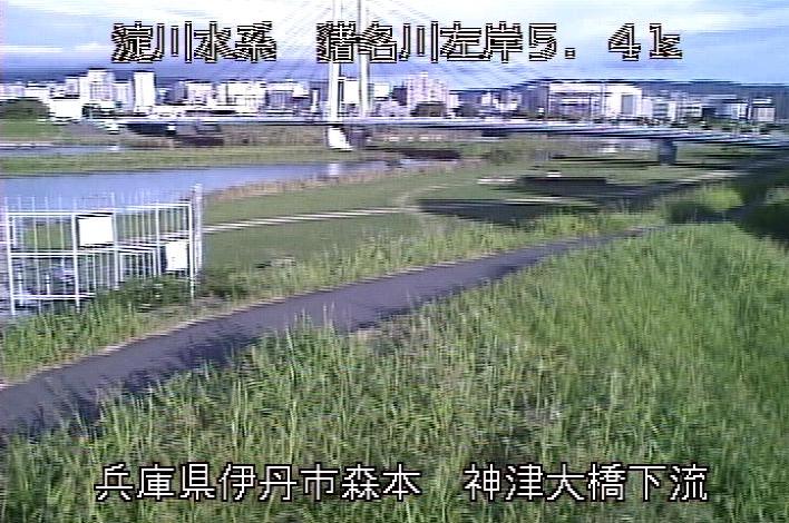 猪名川神津大橋下流ライブカメラは、兵庫県伊丹市森本の神津大橋下流に設置された猪名川が見えるライブカメラです。