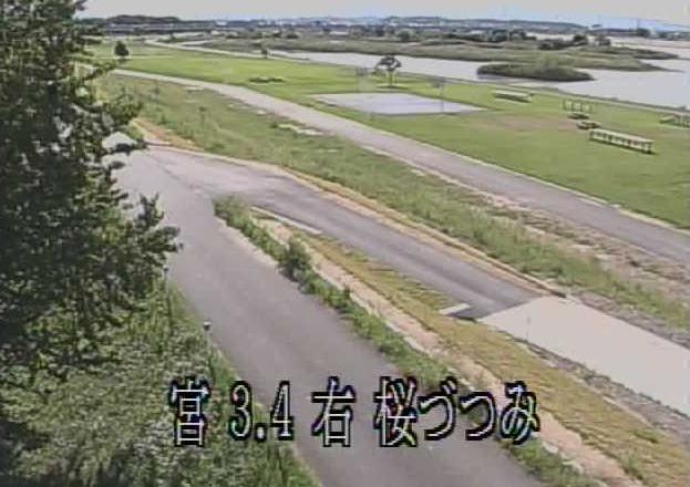 宮川桜づつみライブカメラは、三重県伊勢市磯町の桜づつみに設置された宮川が見えるライブカメラです。