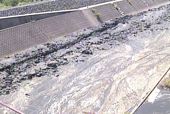 黒神川桜島土石流状況ライブカメラは、鹿児島県鹿児島市黒神町の黒神川に設置された桜島土石流状況が見えるライブカメラです。
