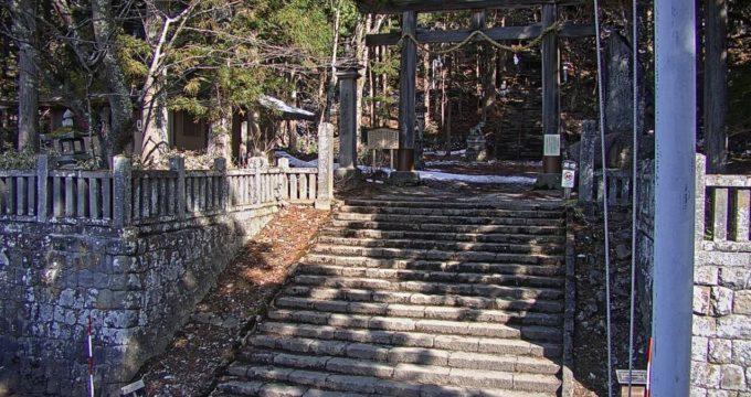 戸隠神社宝光社入口ライブカメラ(長野県長野市戸隠)