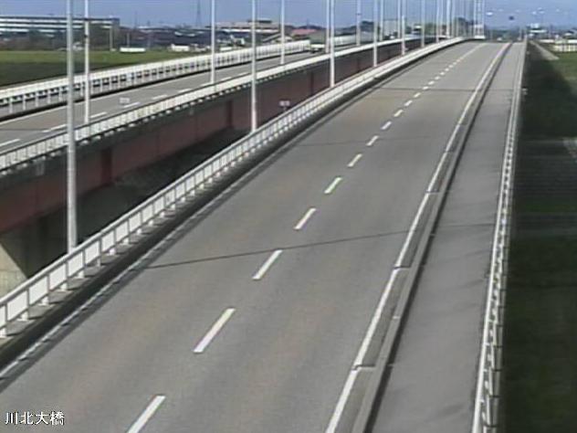 石川県道22号金沢小松線川北大橋ライブカメラは、石川県能美市三ツ口町の川北大橋に設置された石川県道22号金沢小松線(加賀産業開発道路)が見えるライブカメラです。