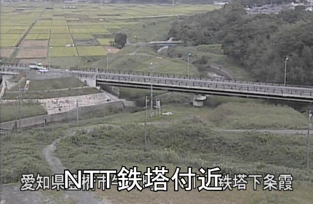 豊川NTTT鉄塔付近ライブカメラは、愛知県豊橋市牛川町のNTTT鉄塔付近に設置された豊川が見えるライブカメラです。