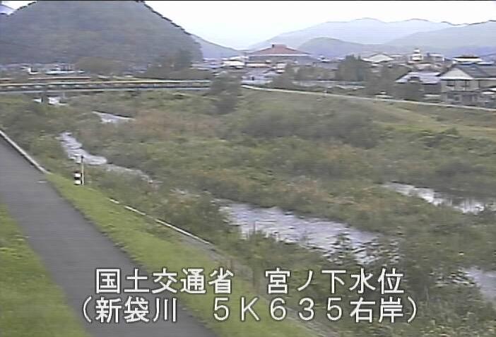 新袋川宮ノ下ライブカメラは、鳥取県鳥取市国府町の宮ノ下水位観測所に設置された新袋川が見えるライブカメラです。