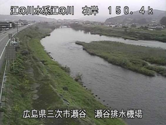 江の川瀬谷ライブカメラは、広島県三次市青河町の瀬谷(瀬谷排水機場)に設置された江の川が見えるライブカメラです。