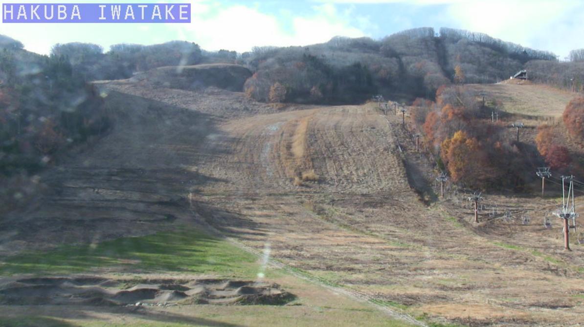 白馬岩岳スノーフィールド岩岳山麓ライブカメラ(長野県白馬村北城)