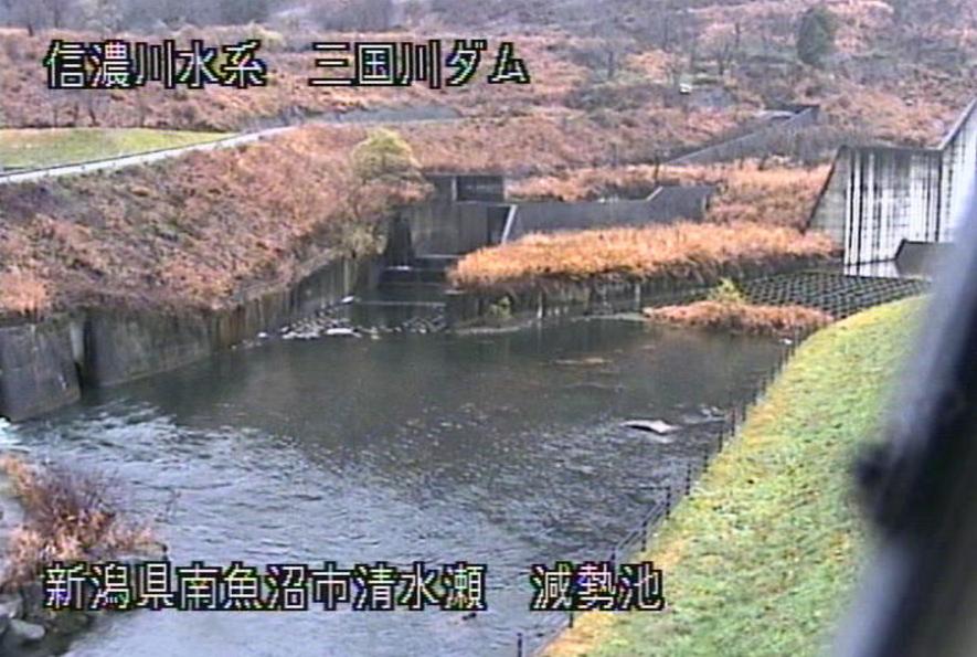 三国川ダム減勢池ライブカメラ(新潟県南魚沼市清水瀬)