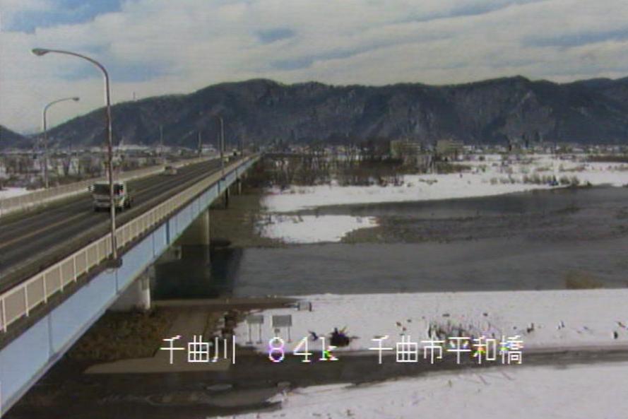 千曲川平和橋ライブカメラ(長野県千曲市八幡)