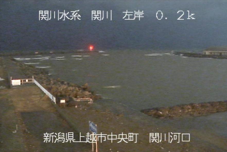 関川河口ライブカメラ(新潟県上越市中央)