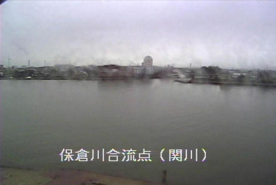 関川保倉川合流点ライブカメラ(新潟県上越市中央)
