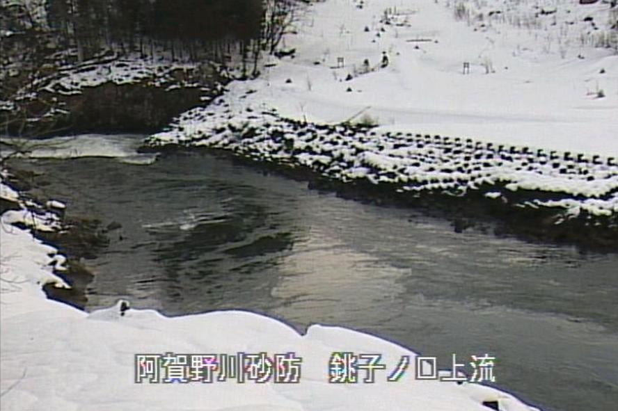 阿賀川滝坂地すべりライブカメラ(福島県西会津町群岡)