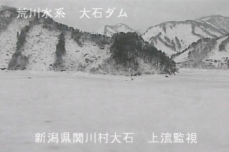 大石ダム上流ライブカメラ(新潟県関川村大石)