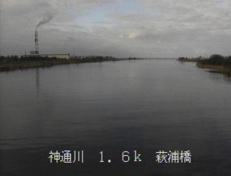 神通川萩浦橋ライブカメラ(富山県富山市草島)