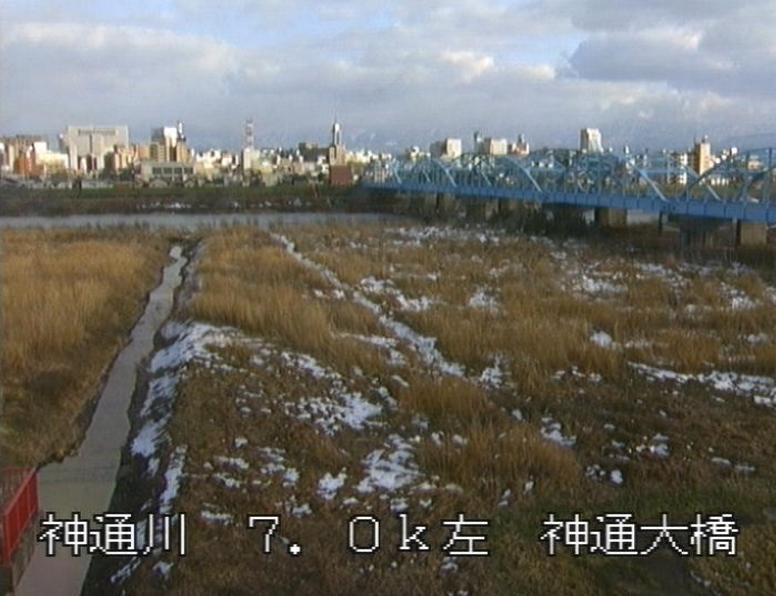 神通川神通大橋ライブカメラ(富山県富山市畑中)