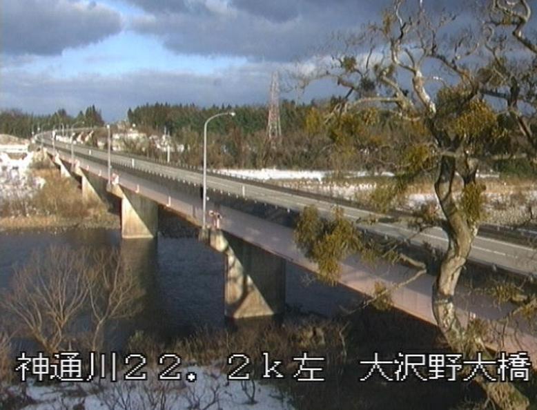 神通川大沢野大橋ライブカメラ(富山県富山市葛原)