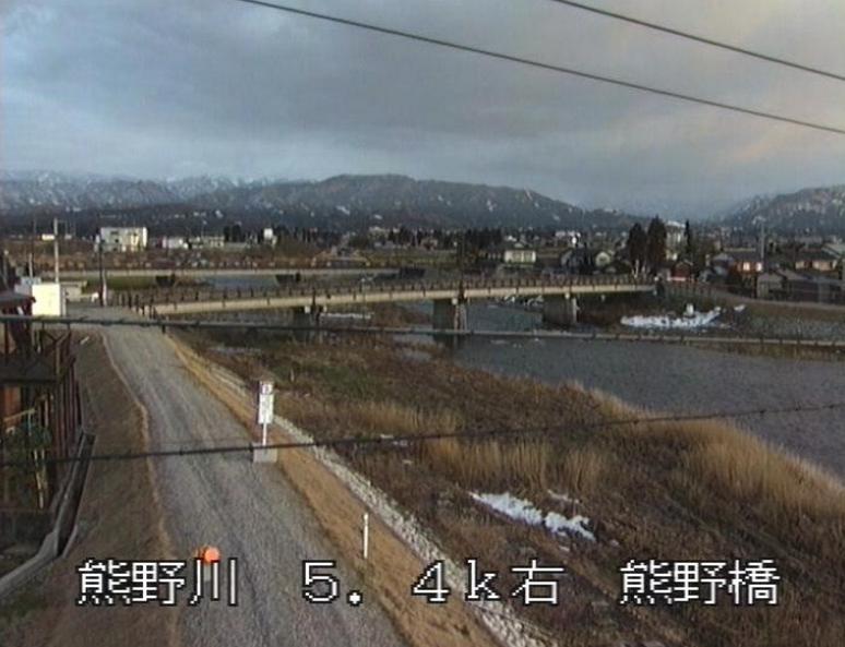 熊野川熊野橋ライブカメラ(富山県富山市下熊野)