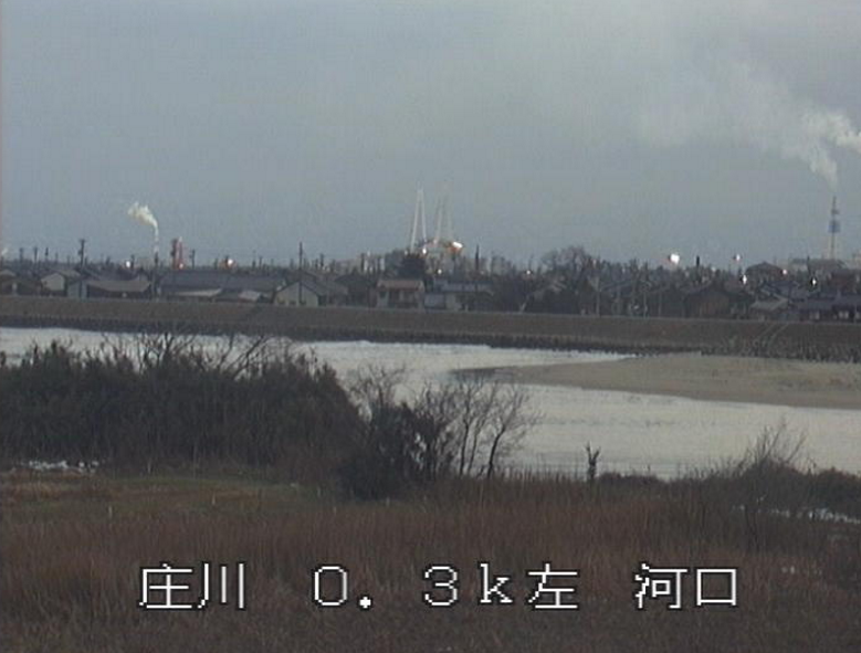 庄川河口ライブカメラ(富山県射水市庄西町)