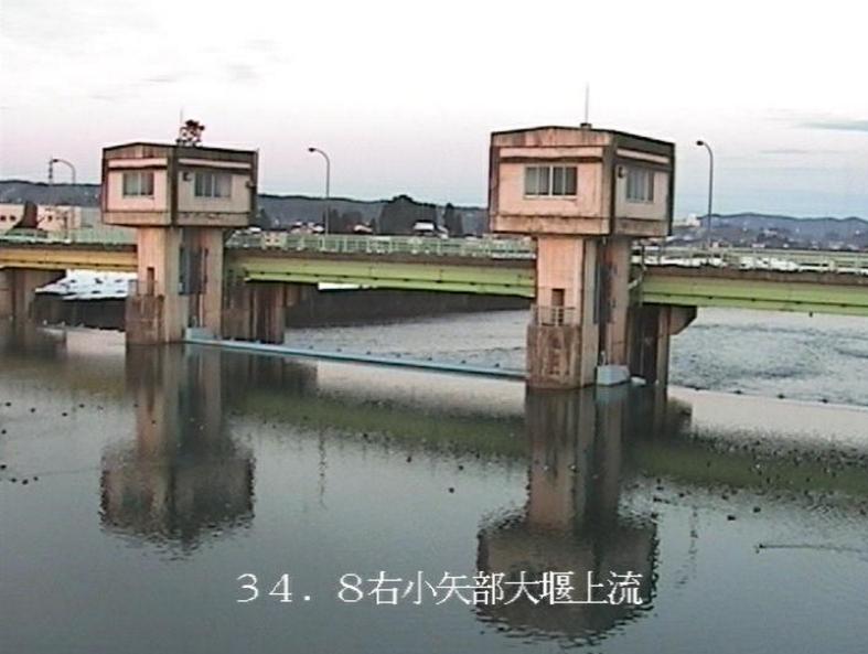 小矢部川小矢部大堰上流ライブカメラ(富山県小矢部市清水)