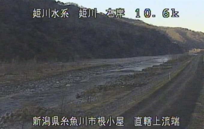 姫川根小屋ライブカメラ(新潟県糸魚川市根小屋)