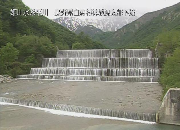 平川源太郎えん堤ライブカメラ(長野県白馬村神城)