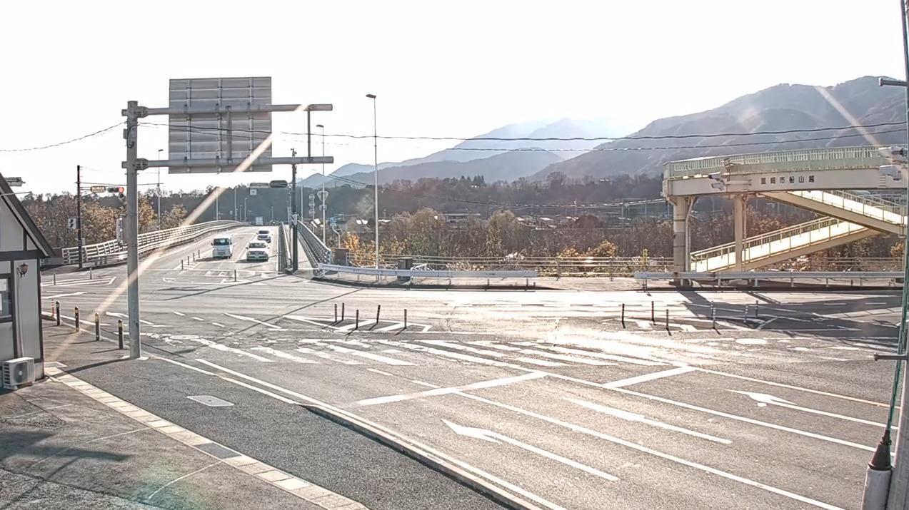 NNS国道20号船山橋北詰交差点ライブカメラ(山梨県韮崎市本町)