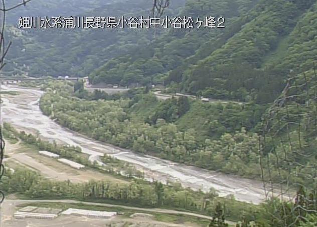 浦川来馬河原ライブカメラ(長野県小谷村北小谷)