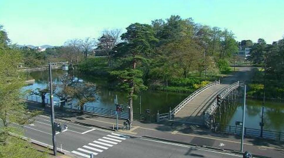 高田公園高田城三重櫓夜桜ライブカメラ(新潟県上越市本城町)
