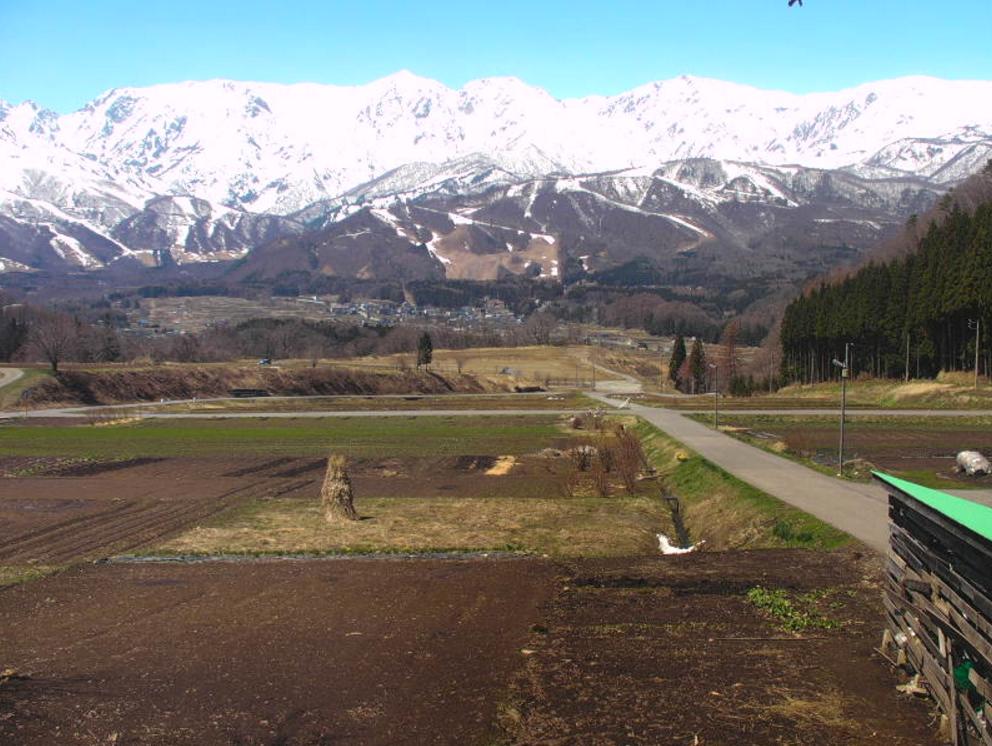 野平地区北アルプスライブカメラ(長野県白馬村北城)