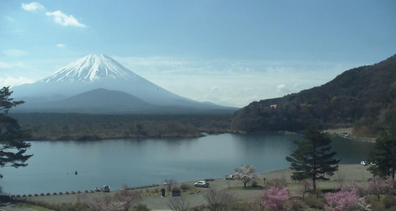 精進湖富士山ライブカメラ(山梨県富士河口湖町精進)