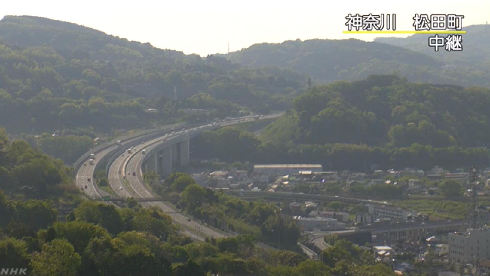 NHK東名高速道路松田付近ライブカメラ(神奈川県松田町)