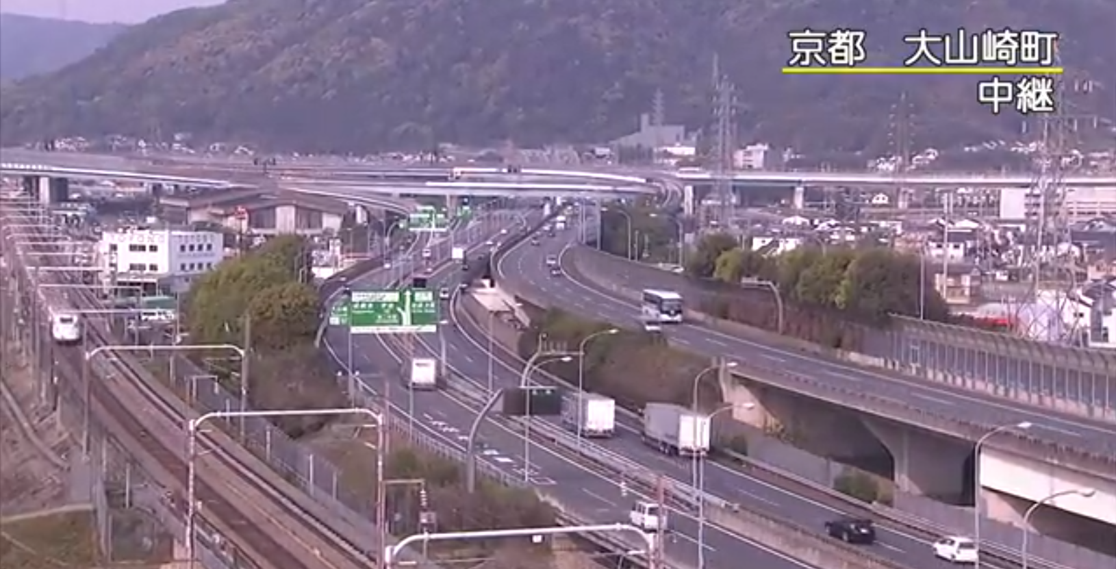 NHK名神高速道路大山崎町付近ライブカメラ(京都府大山崎町)