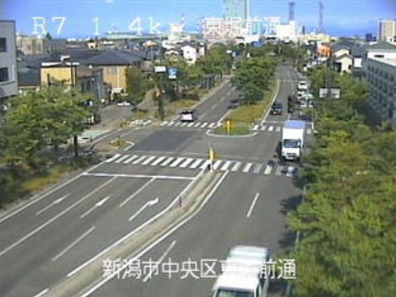 国道7号東堀前通ライブカメラ(新潟県新潟市中央区)