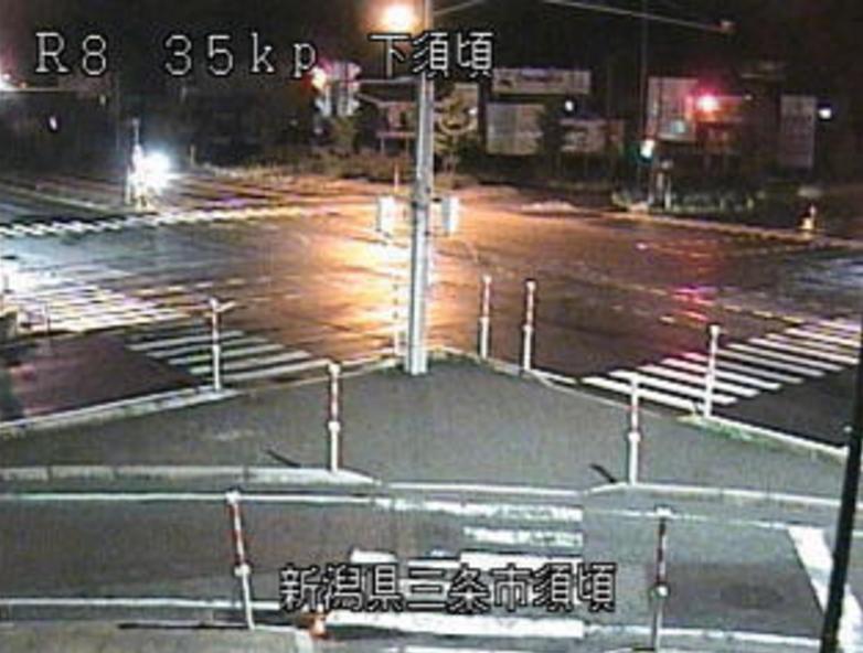 国道8号須頃ライブカメラ(新潟県三条市須頃)