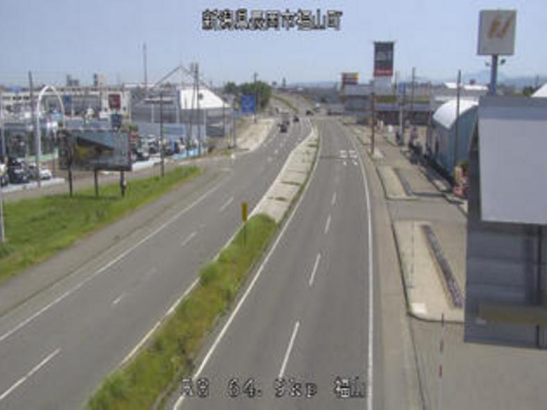 国道8号福山ライブカメラ(新潟県長岡市福山町)